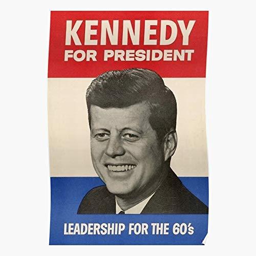 Vintage History Kennedy John F American Democrat Campaign Liberal Póster de impresión de arte de pared para decoración del hogar !