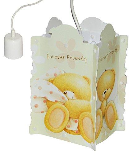 Deckenlampe / Hängelampe - Teddy Bär - Forever Friends - 27 cm hoch - für Kinder Kinderzimmer Kinderlampe Leuchte - Baby Mädchen Jungen - Teddybär Bären - Deckenleuchte