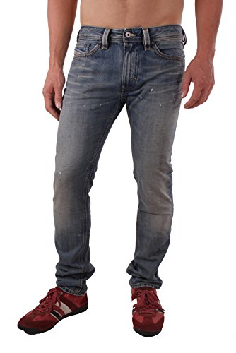 Diesel Thanaz 0R60R Herren Jeans Hose Slim Skinny (W31/L32, Blau)