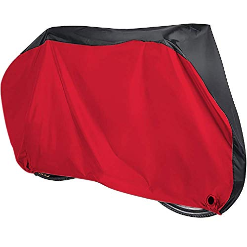 A ALPS Bike Cover for 2 Bikes 190T Polyester Outdoor Waterproof Bicycle Covers Rain Sun UV Dust Wind Proof with Lock Hole for Mountain Road Electric Bike, XL