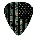 USA Army Camo Flag Classic Guitar Picks American Flag Guitar Pick 12-Pack