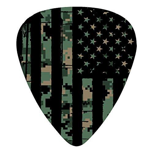 USA Army Camo Flag Classic Guitar Picks 12-Pack