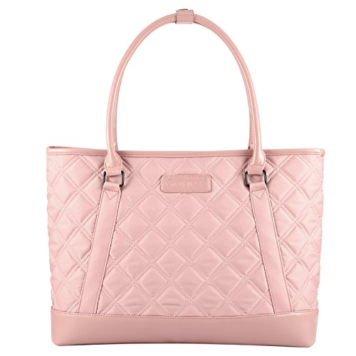 Women Laptop Tote Bag, Gonex Lightweight Nylon 15-15.6 Inches Tablet Handbag Shoulder Bag for Women,Computer,Business,Work,Travel Rose Gold