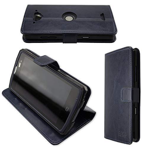 caseroxx Handy Hülle Tasche kompatibel mit Crosscall Core-X3 Bookstyle-Hülle Wallet Hülle in blau