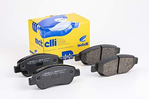 metelligroup 22-0637-0 Pastiglie Freno anteriori, Made in Italy, Pezzo di Ricambio per Auto   Automobile, Kit da 4 Pezzi, Certificate ECE R90, Prive di Rame