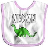 Vegan dinosaurio niño recién nacido niñas niños toalla de saliva amigable con la piel bebé baberos-rosa