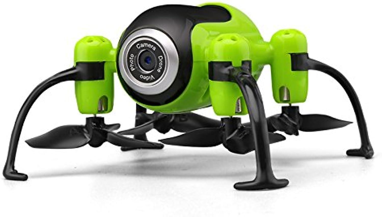 STOWNN Flugmodell Flugzeug Fernsteuerung Mini - Nein, Eine Version Der Hd Live Fpv Quad Achse Antenne Handwerk Spielzeug, Grün Die Hohe Version