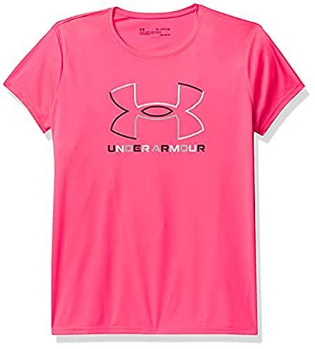 Under Armour Girls' Tech Big Logo Short Sleeve T-Shirt , Cerise...