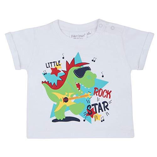 Strong Souls T-Shirt à Manches Courtes pour bébé garçon - Blanc - 2 Mois