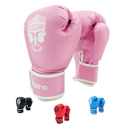 Redipo Kids Boxing Gloves, Sponge Foam Training Sparring Gloves Thai Kick Boxing for Kid and Youth, Suitable for Boys and Girls Age 3 to 12 Years