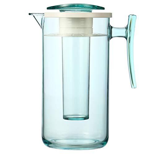bremermann Aroma- und Kühlkaraffe mit Kühlstab und Sieb, 2,0 Liter Kühlkrug (Grün)