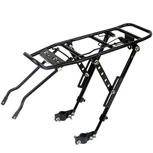 Mountain Bike Equipaje Portador de equipaje de aleación de aluminio con ramas de equipaje rápido Bicicleta Sillín de montaje Soporte de montaje en bicicleta Carrier de equipaje Accesorios de Montaña
