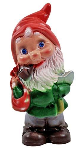 RAKSO Deko Figur Zwerg H 20 cm Gartenzwerg Waldarbeiter mit Axt stehend Gartenfigur aus Kunststoff