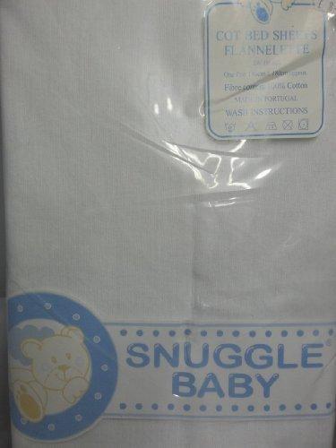 emmailotteur bébé lit bébé flannette draps en coton 2pack