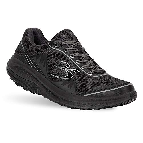 Gravity Defyer Men's G-Defy Mighty Walk Athletic Men's Walking Shoes 10.5 W US- Recovery Pain Relief Shoes for Heel Spurs, Foot Pain Shoes for Plantar Fasciitis- Black
