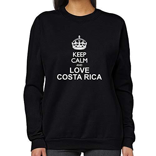Teeburon Keep Calm and Love Costa Rica Sudadera Mujer