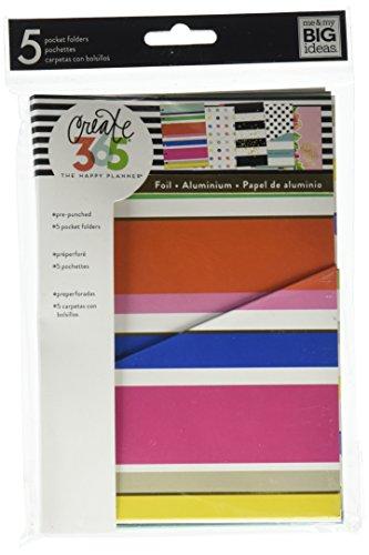Me & My Big Ideas Happy Planner Embellished Folders, Mini Multi Dots