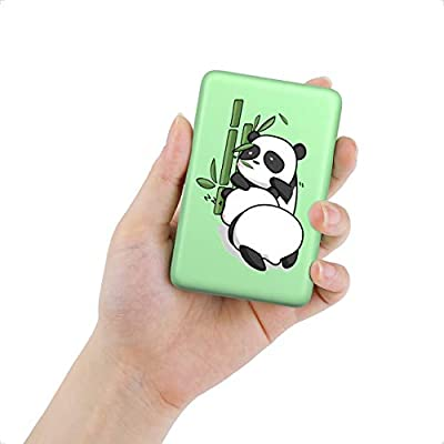IEsafy Power Bank, Ultra Compact 10000mAh Portable Charger, Fast Charging External Battery Pack with Dual USB Output, 2020 Panda Portable Phone Charger for iPhone, Samsung, HUAWEI and Tablets-Green