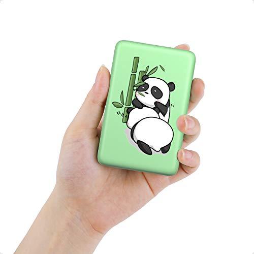 IEsafy 10000mAh Batterie Externe Panda avec Deux Sorties USB 12W Mini Chargeur Portable Mignon pour Téléphone Portable Smartphone
