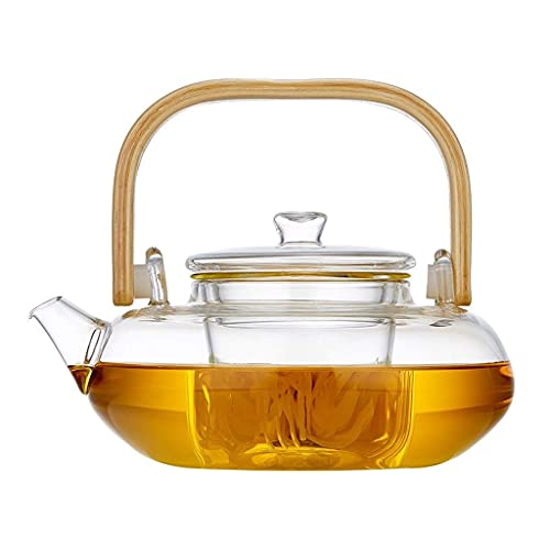 WLALLSS Teapots Tea Pot Teapot Glass Teapot Loose Leaf Tea Infuser Glass Teapot, Heat-Resistant Kettle, Filter Teapot, Tea Set, Household Tea Maker, Heat-Resistant Thickened Glass Teapot