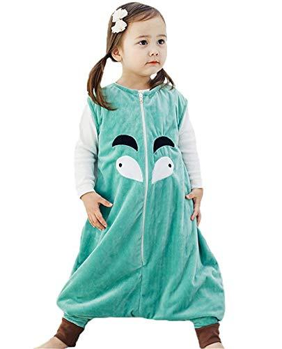 Queque Shine Kleinkind Kids 1–7Y Sleep and Play de Blanket Saco de Dormir Cotton Jumpsuits Mono Diseño Lana nachtwäsche Unisex Pijama niño niña Verde Verde Talla:L(5-8 Jahre)