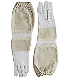 Image of goatskin gloves, top beekeeping equipment