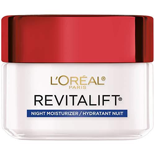L'Oreal Paris Skincare Revitalift Anti-Aging Night Cream, Face Moisturizer with Pro-Retinol and Centella Asiatica, Paraben Free, Non-Comedogenic, Suitable for Sensitive Skin, 1.7 oz.