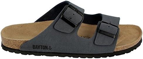 BAYTON Men's 2 Buckle Strap OFFicial Sandal service