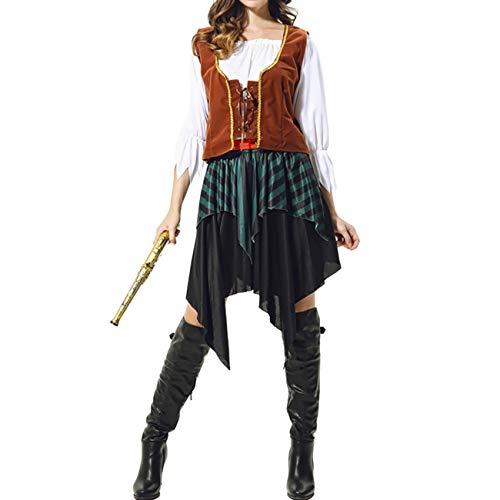 THEE Disfraz de Pirata de Halloween Cosplay Costume para Mujer