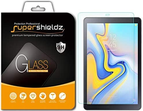 Supershieldz Designed for Samsung Galaxy Tab A 10.5 inch 2018 Released (SM-T590, SM-T595, SM-T597) Tempered Glass Screen Protector, 0.33mm, Anti Scratch, Bubble Free