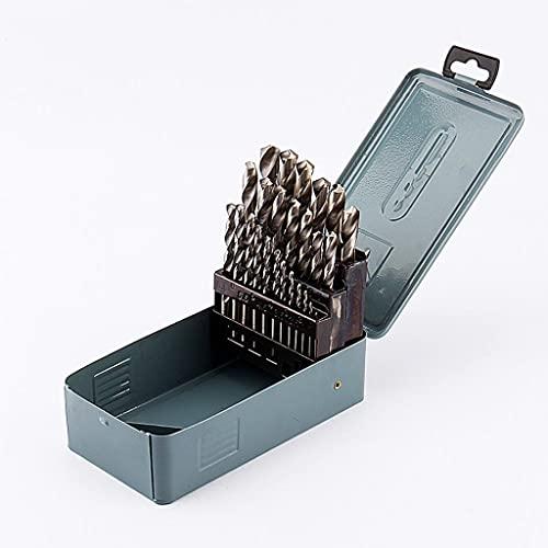 YKAMM Juego de Brocas de 25 Piezas para Madera de Metal de 1 a 13 mm con Caja de Almacenamiento, Accesorios para Herramientas eléctricas, Juego de Herramientas para Brocas de perforación