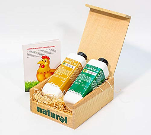 FINCA CASAREJO Pack Productos para desparasitar Aves de Corral. Presentado en Caja de Madera