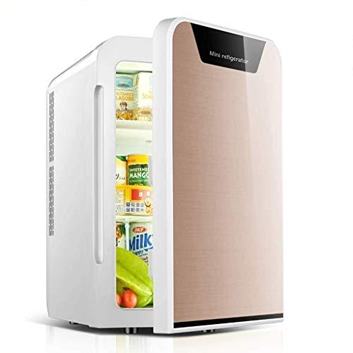 20L mini refrigerador del refrigerador, Mini Led Frigorífico, latas de bebidas más frío cálido, 12v / 240v de entrada dual, 55 Watts silencioso termoeléctrica de reproducción ( Color : 22l golden )