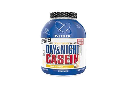 WeiderDay & Night Casein Proteinpulver, Vanille-Sahne, Eiweiß für Muskelaufbau, Fitness Shake 1,8kg