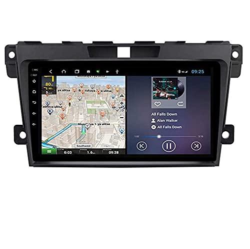Compatible MAZDA CX-7 2008 ~ 2015 Sat Nav Doble Din Radio estéreo para automóvil Navegación GPS Unidad principal de pantalla táctil de 9 pulgadas Reproductor multimedia Receptor de video Wifi Bluetoo