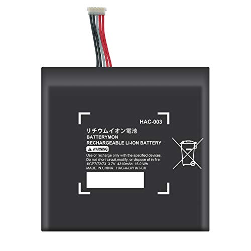 BatteryMon HAC-003 Battery Repalcement for Switch 2017 Game Console HAC-001 HAC-A-BPHAT-C0 HAC-S-JP/EU-C0 (3.7V 16Wh)