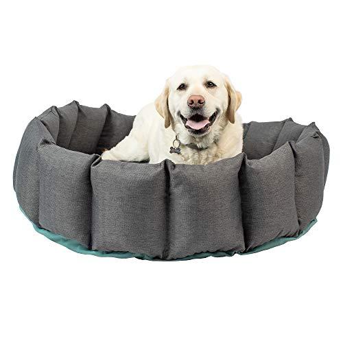 Hyper Pet Deep Sleep Deluxe Hundebett (Hundebett mit waschbarem Hundebett und antimikrobiellem Bezug), Größe L: 91,4 x 91,4 x 25,4 cm