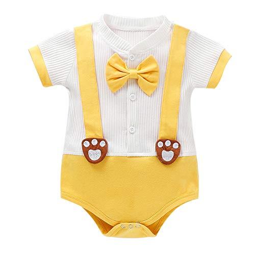 Infantile bébé Filles Body, Cartoon Animal Print Manches Courtes Barboteuses Combinaison vêtements Nouveau-nés
