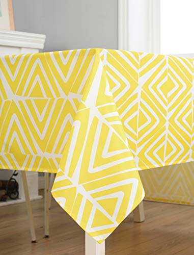 Dreaming Casa Nappe Imperméable de Table Rectangulaire Jaune Résistant Nappe Anti-Taches Tissu...