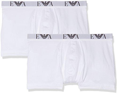 Emporio Armani Underwear Herren 111284CC715 Boxershorts, Weiß (Bianco/Bianco 04710), X-Large (2er Pack)