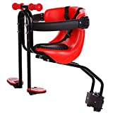 Child Bike Seat,with Safety Belt Child Safety Cushion with Backrest Foot Pedals Bicycle