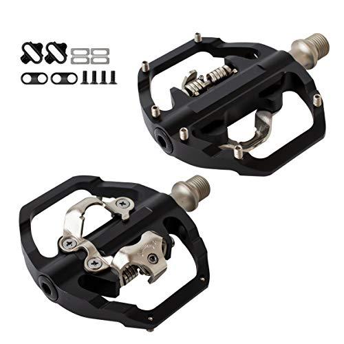 GORIX ゴリックス ペダル 片面フラット 自転車ペダル ビンディングペダル ロードバイク (M102)