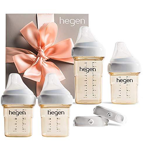 Hegen Newborn Baby Bottle Basic Starter Kit with Add On 5oz (2Pk) Baby Bottles