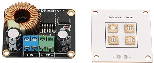 FORETTY DIANLU43 3D Printer Parts, 3D Printer Parts 40W UV LED Light Source Lamp Panel + 30W LED Driver Board for DLP Computer Stable Performance