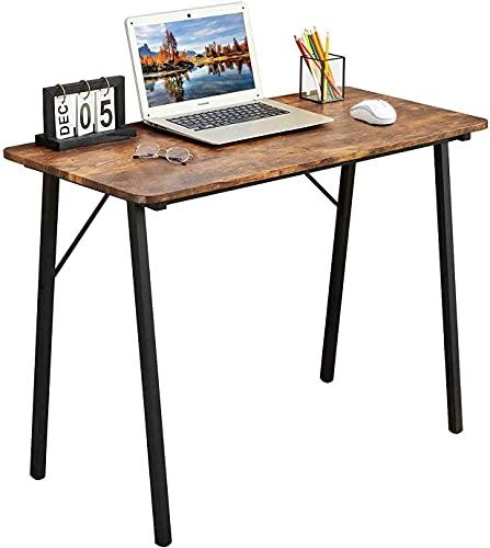 Coavas Schreibtisch Klein Computertisch Einfach Modern Büro Arbeitstisch Konferenztische Industrieller Stil Holzfaserplatte, 100x48x74cm, Vintage...