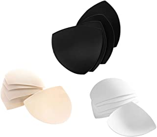 6 Pairs Women Removable Bra Spongy Pad Bra Inserts Pads For Swimwear Sports White Black Skin Color
