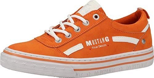 MUSTANG Damen 1354-314 Sneaker, orange, 41 EU