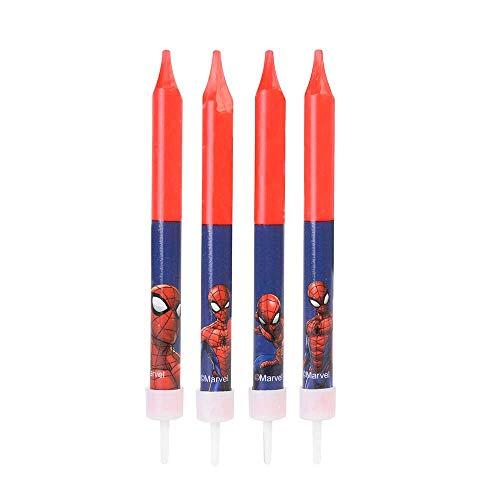candeline candele spiderman 4 pz
