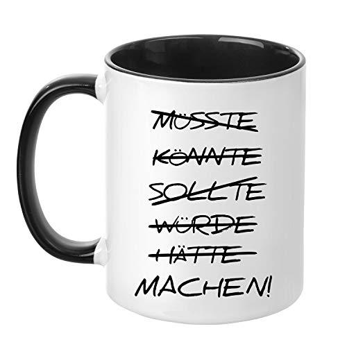 Acen Merchandise HÄTTE, KÖNNTE, SOLLTE, WÜRDE - Fun Keramik Taza de café...