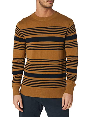 Scotch & Soda Leichtes gestreiftes Sweatshirt Suter Pulver, 0219 Combo C, XXL para Hombre